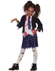 Disfarce aluna zombie azul menina