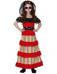 Disfarce mexicana Dia de los muertos menina