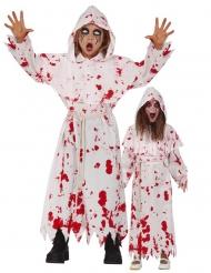 Disfarce religioso sangrento criança