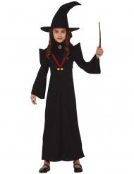 Disfarce professor de magia menina