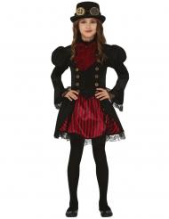 Disfarce Steampunk vermelha glamoroisa menina