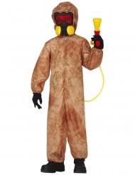 Disfarce zombie radioactivo criança