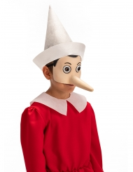 Meia-máscara látex Pinocchio™ adulto