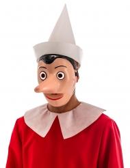 Máscara plástico Pinocchio™ com nariz amovível adulto