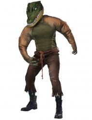 Disfarce homem crocodilo adulto