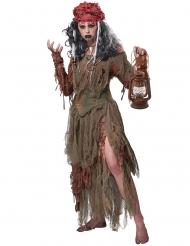 Disfarce bruxa vudu da lagoa mulher