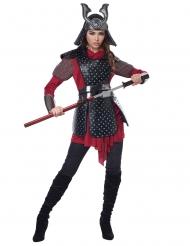 Disfarce guerreira samurai mulher