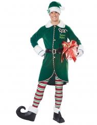 Disfarce duende do pai Natal homem