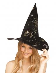 Chapéu de bruxa constelações adulto