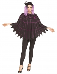 Poncho teia de aranha violeta mulher