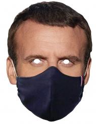 Máscara de cartão presidente usando máscara