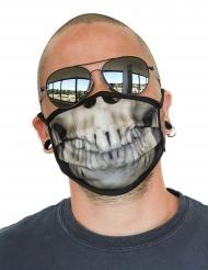 Máscara facial estampada esqueleto adulto