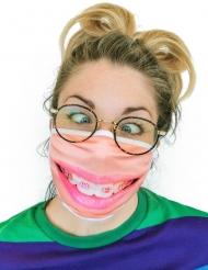 Máscara facial estampada aparelho dentário adulto