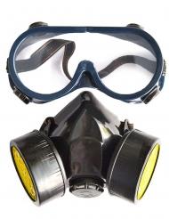 Kit óculos e máscara de gás fictício adulto