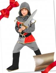 Caixa de presente disfarce cavaleiro com acessórios criança