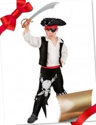 Caixa de presente disfarce pirata com acessórios criança
