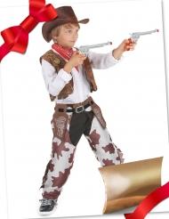 Caixa de presente disfarce cowboy com acessórios criança