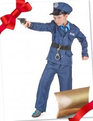 Caixa de presente disfarce polícia com acessórios criança