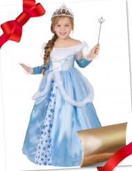 Caixa de presente disfarce princesa azul com acessórios menina
