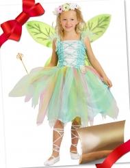 Caixa de presente disfarce fada verde com acessórios menina