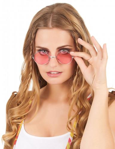 Óculos redondos estilo hippie para adulto-5