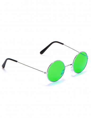 Óculos redondos estilo hippie para adulto-4