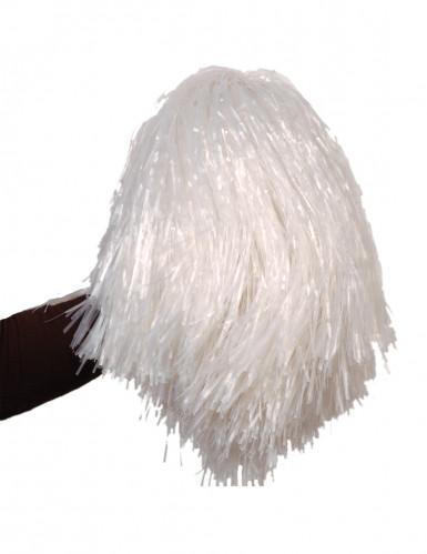 Pompom branco metálico