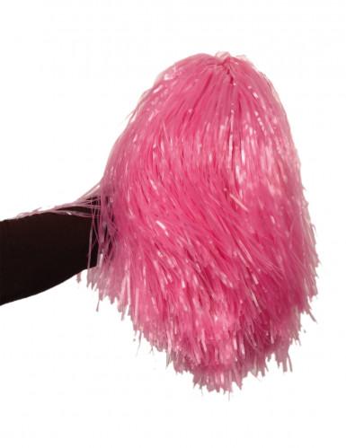Pompom cor-de-rosa metálico