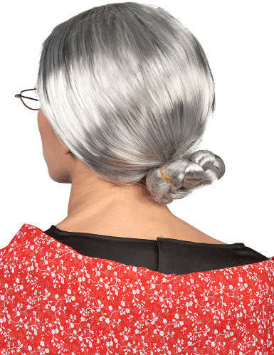 Peruca de avó para mulher-1