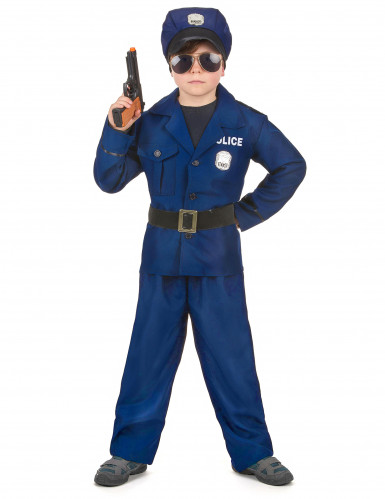 Disfarce de polícia de luxo menino