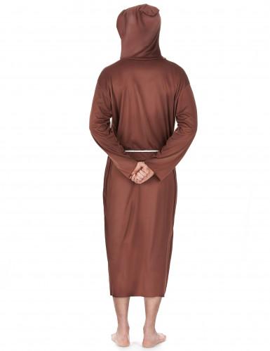Disfarce de monge homem castanho claro-2