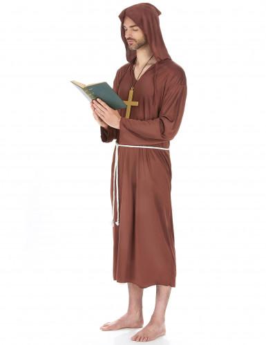 Disfarce de monge homem castanho claro-1