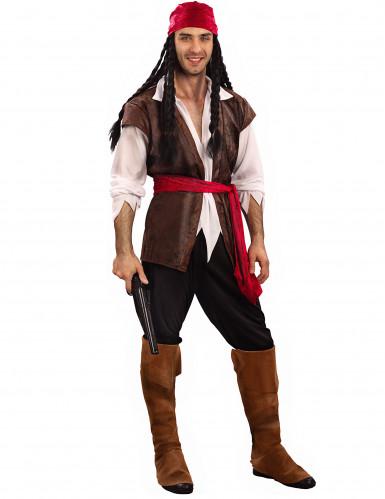Disfarce de pirata homem