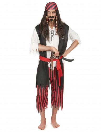 Disfarce de pirata corsário homem
