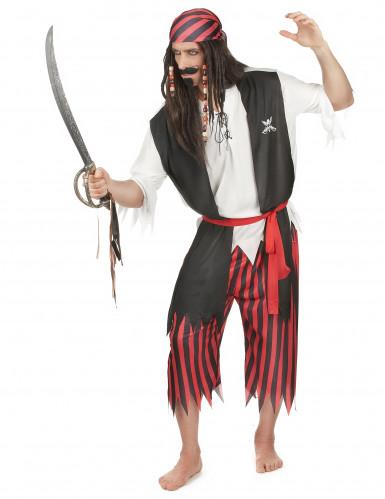 Disfarce de pirata corsário homem-1