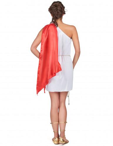 Disfarce curto de deusa romana mulher-2