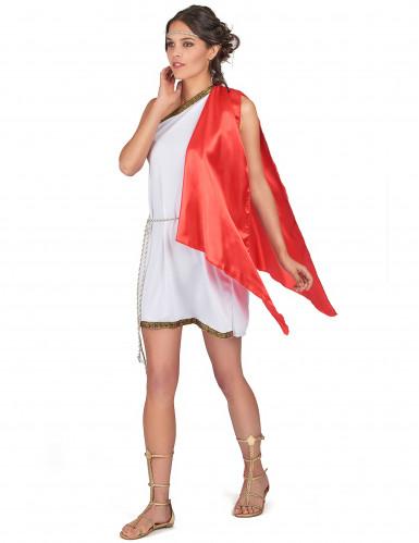Disfarce curto de deusa romana mulher-1
