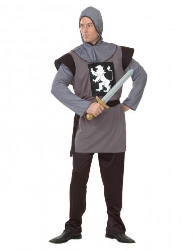 Disfarce de cavaleiro medieval para homem