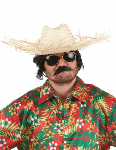 Chapéu de palha Havai adulto-1