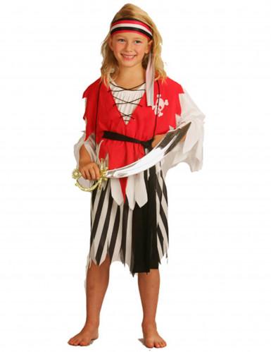 Disfarce de pirata para rapariga