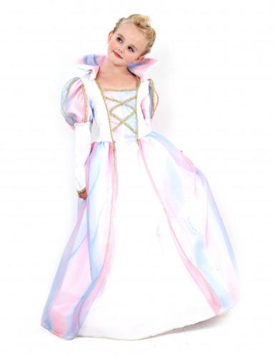 Disfarce de princesa colorido menina