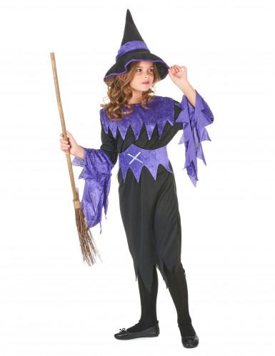 Disfarce de feiticeira de Halloween para rapariga-1