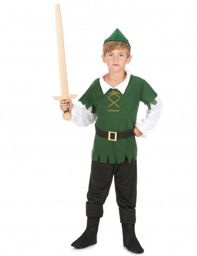 Disfarce de rapaz dos bosques preto e verde