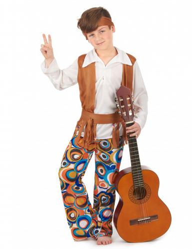 Disfarce de hippie castanho menino