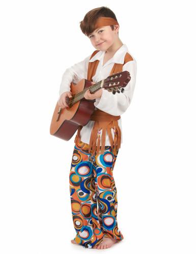 Disfarce de hippie castanho menino-1