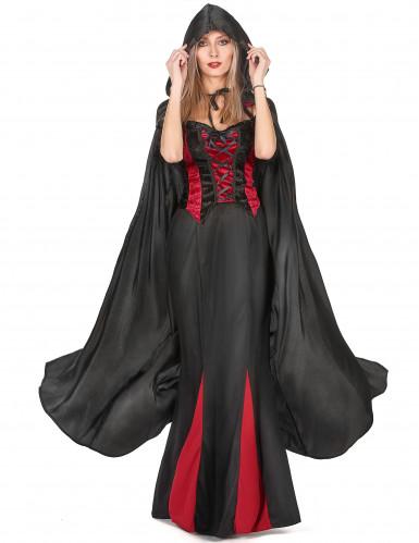 Capa vampiro preto adulto Halloween