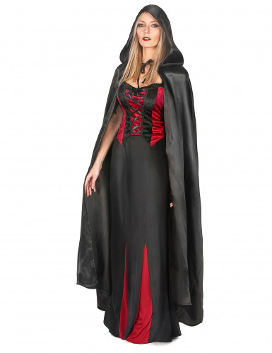 Capa vampiro preto adulto Halloween-1