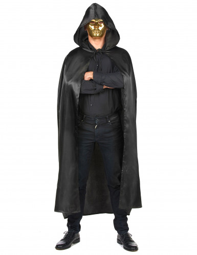 Capa vampiro preto adulto Halloween-3