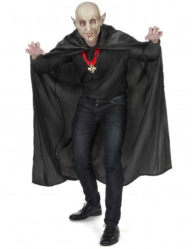 Capa vampiro preto adulto Halloween-4