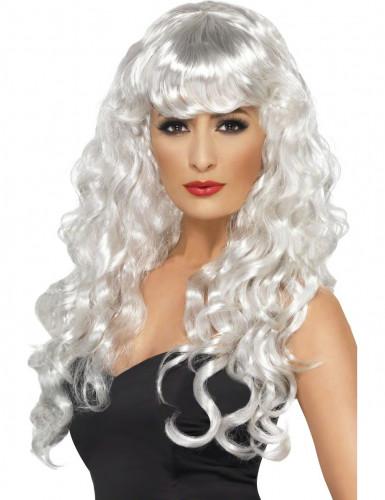 Peruca branca de sereia
